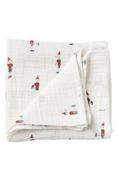 Garbo & friends Pinocchio Muslin Swaddling Cloth, Size One Size - White