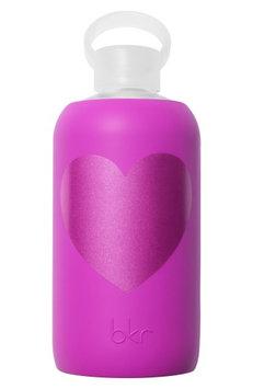 Bkr Heart 32-Ounce Glass Water Bottle