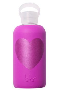 Bkr Heart 16-Ounce Glass Water Bottle