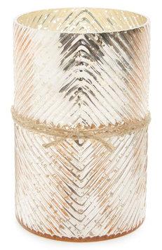 Himalayan Trading Post Diamond Scented Hurricane Candle, Size One Size - Metallic