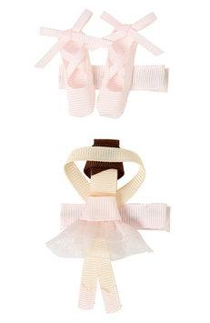 Milledeux 2-Piece Ballerina Hair Clip Set, Size One Size - Pink