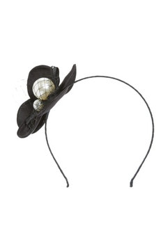 Cara Imitation Pearl Flower Headband, Size One Size - Black