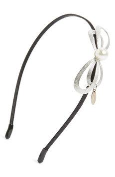 Tasha Sweet Bow Headband, Size One Size - Metallic