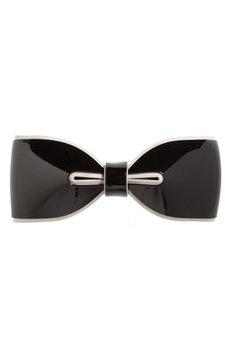 Tasha Bow Barrette, Size One Size - Black