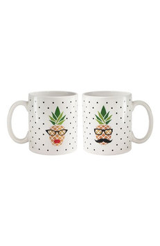 American Atelier His & Hers Pineapple Set Of 2 Mugs, Size One Size - White