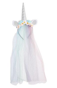 Topshop Veiled Unicorn Headband, Size One Size - Metallic