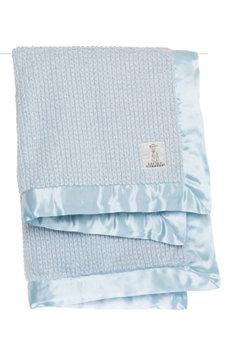 Little Giraffe Luxe Herringbone Blanket, Size One Size - Blue