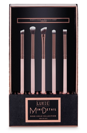 Luxie Rose Gold Mini Detail Eye Brush Set, Size One Size - No Color