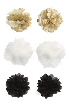 Capelli Of New York 6-Pack Flower Hair Clips, Size One Size - Black