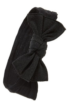 Baby Bling Metallic Knot Bow Headband, Size One Size - Black