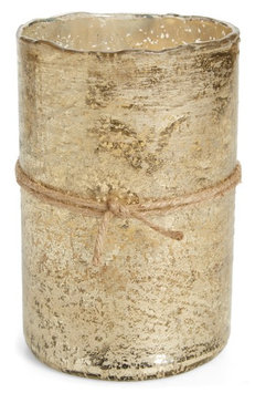 Himalayan Trading Post Scented Gold Hurricane Candle, Size One Size - Metallic