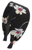 Cara Flower Print Headband, Size One Size - Black