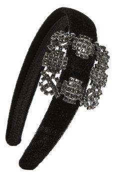 Natasha Buckle Headband, Size One Size - Black