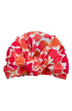 Louvelle Dahlia Pink Turban Shower Cap, Size One Size - Pink