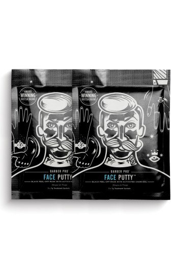Barber Pro Face Putty Black Peel-Off Mask Duo
