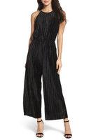 Women's 19 Cooper Pleated Velvet Jumpsuit, Size X-Small - Black