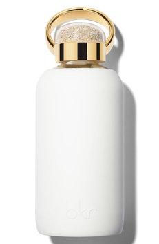Bkr 500 Swarovski Yellow Gold Winter 16-Ounce Glass Water Bottle