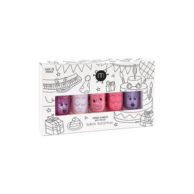 Nailmatic Set Of 5 Kid's Nail Polishes - Gaston Bella/ Kitty