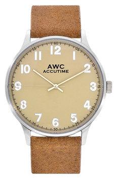 Accutime Numerial Suede Strap Watch, 40mm