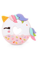 Infant Girl's Loulou Lollipop Unicorn Donut Teething Toy, Size One Size - Pink