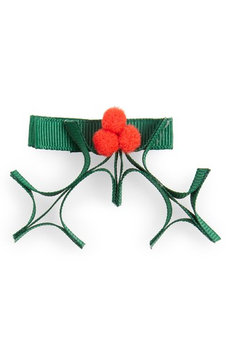 Milledeux Holly Hair Clip, Size One Size - Green