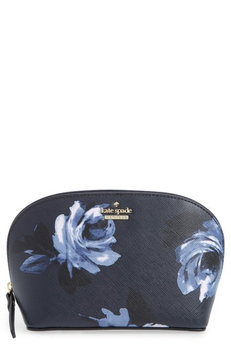 Kate Spade New York Cameron Street Night Rose - Small Abalene Cosmetics Bag, Size One Size - Rich Navy Multi