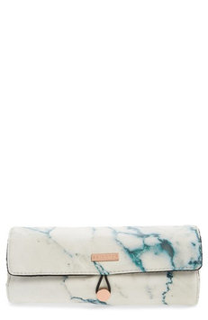 Skinnydip Skinny Dip Marble Print Brush Roll, Size One Size - No Color