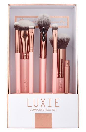 Luxie Rose Gold Complete Face Brush Set, Size One Size - Rose Gold