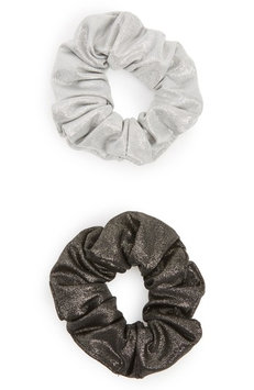 Berry 2-Pack Hair Scrunchies, Size One Size - Metallic