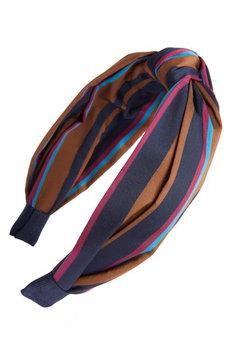 Tasha Stripe Knotted Headband, Size One Size - Brown