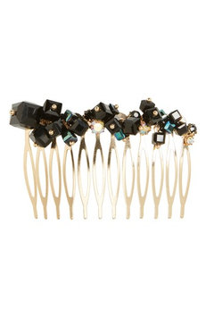 Tasha Just Bead It Embellished Hair Comb, Size One Size - Black
