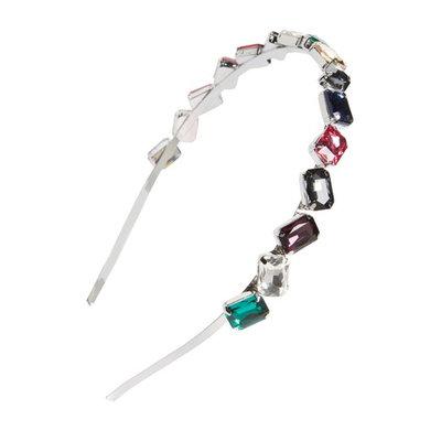 Tasha Crystal Embellished Headband, Size One Size - Coral
