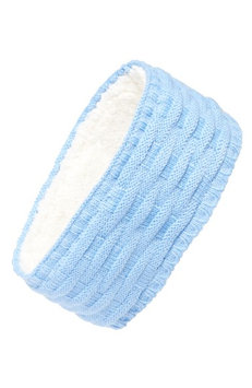Echo Cross Cable Knit Headband, Size One Size - Blue