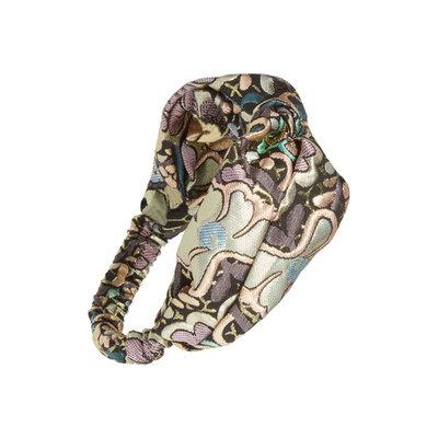 Berry Knotted Brocade Headband, Size One Size - Metallic