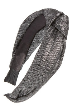 Berry Metallic Knot Headband, Size One Size - Metallic