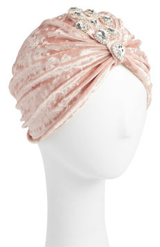 Berry Pink Jeweled Turban, Size One Size - Pink