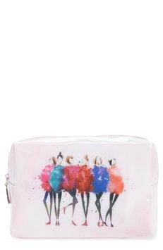 Catseye London Watercolor Women Large Cosmetics Case, Size One Size - Pink