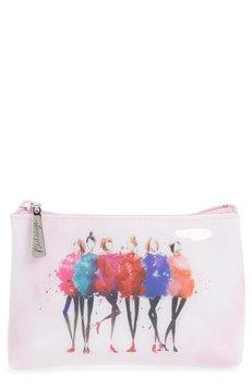 Catseye London Watercolor Women Cosmetics Pouch, Size One Size - Pink