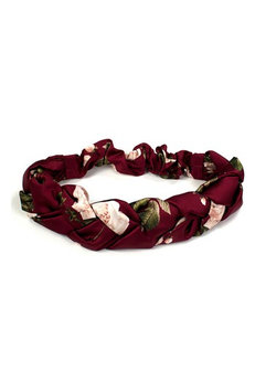 New Friends Colony Winter Rose Braided Head Wrap, Size One Size - Red