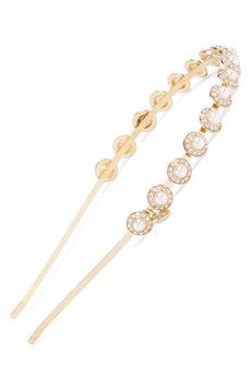 Tasha Dome Imitation Pearl Headband, Size One Size - Metallic