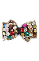 Tasha Bling Me Out Crystal Bow Barrette, Size One Size - Coral