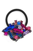 Tasha Crystal Embellished Ponytail Holder, Size One Size - Pink