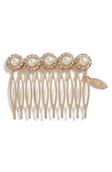 Tasha Imitation Pearl Embellished Hair Comb, Size One Size - Metallic