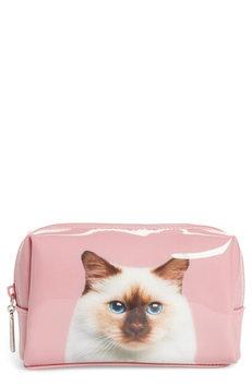 Catseye London Cat On Rose Cosmetics Case, Size One Size - Rose
