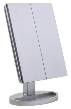 Impressions Vanity Co. Touch Led Trifold Vanity Mirror, Size One Size - Silver