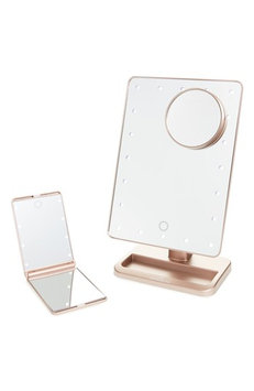 Impressions Vanity Co. Touch Xl Dimmable Led Makeup Mirror With Removable 5X Mirror & Compact Mirror, Size One Size - Rose Gold/ Rose Gold