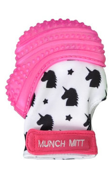 Infant Girl's Munch Mitt Unicorn Print Teething Mitt, Size One Size - Pink