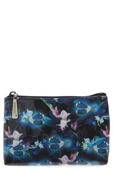 Catseye London Night Blooms Cosmetics Pouch, Size One Size - Black