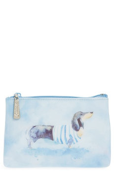 Catseye London Watercolor Dog Cosmetics Case, Size One Size - Blue