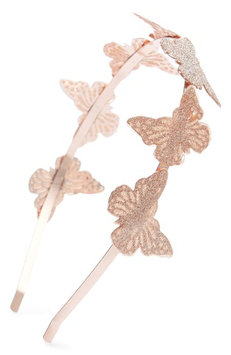 Capelli New York Glitter Butterfly Headband, Size One Size - Metallic